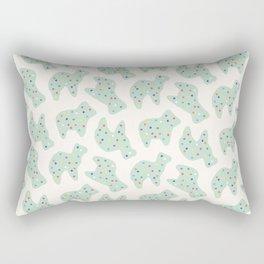 Animal Cookies - Mint Rectangular Pillow