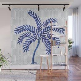 Indigo Palm Wall Mural