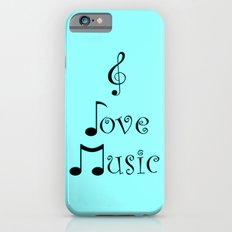 I Love Music - Techno Turquoise iPhone 6s Slim Case