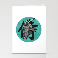 samurai Stationery Cards featuring Samurai by  Steve Wade ( Swade)