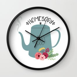 Homebody Tea Wall Clock