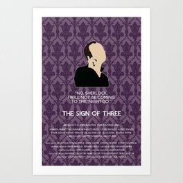 The Sign of Three - Mycroft Holmes Art Print