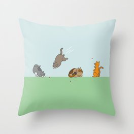 The Red Dot Invasion Throw Pillow