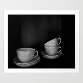BW CUPS Art Print