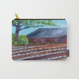 Rows of Cotton Carry-All Pouch