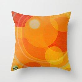 Circles Sherri's Oranges Throw Pillow