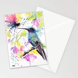 """""""Hummingbird kissing a Dragonfly"""" Stationery Cards"""