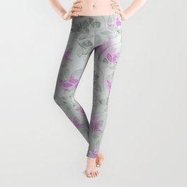 Liana purple flowers . Leggings