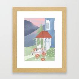 Spring in Moominvalley Framed Art Print