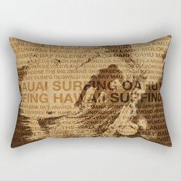 Surfing Hawaii, The Green Room, Hawaiian Surfing Design Rectangular Pillow