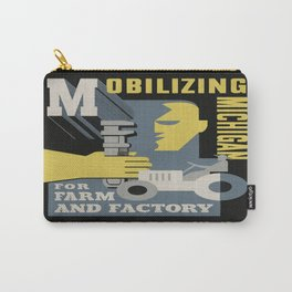 Vintage poster - Mobilizing Michigan Carry-All Pouch
