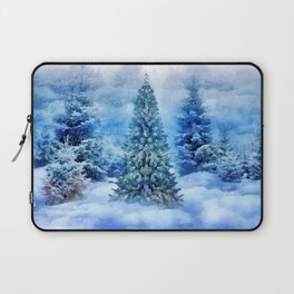 Christmas tree scene Laptop Sleeve