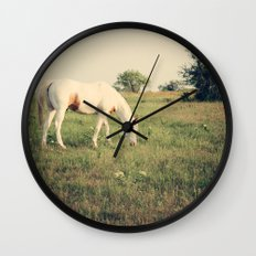 It's not a unicorn! It's a white horse! Wall Clock