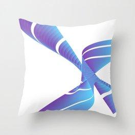 chinese fingertrap pinwheel Throw Pillow