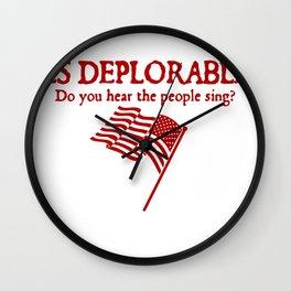 Les Deplorables Wall Clock