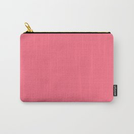 Watermelon Pink Simple Solid Color All Over Print Carry-All Pouch