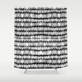 Abstract Wavy Black and White Pattern Shower Curtain