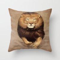 hunter Throw Pillows featuring Hunter by Qaizor