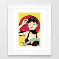 audrey Framed Art Prints featuring Audrey by Vee Ladwa