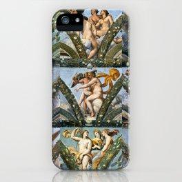 """Raffaello Sanzio da Urbino """"The Loggia of Psyche"""", 1517-18 iPhone Case"""