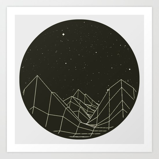 Night circles Art Print
