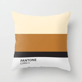 pantone corgi Throw Pillow