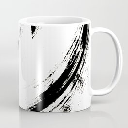 Brushstroke 6: a minimal, abstract, black and white piece Coffee Mug
