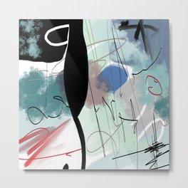 multicolored and geometric digital drawing Metal Print
