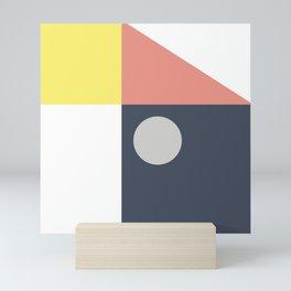 Geometrical shapes Mini Art Print