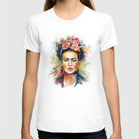 frida kahlo T-shirts featuring Frida Kahlo by Tracie Andrews