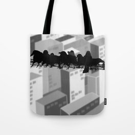 crows lunch atop Tote Bag