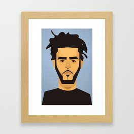 J Cole Framed Art Print