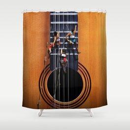 Surreal Guitar Climbers  Shower Curtain