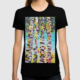 four sisters abstract trees, tree art, trees wall decor, trees bedding T-shirt