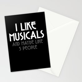 Musical Theater Thespian Music Lover Introvert Stationery Cards