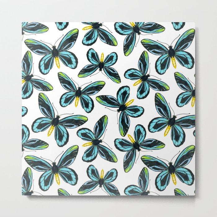 Queen Alexandra' s birdwing butterfly pattern design Metal Print