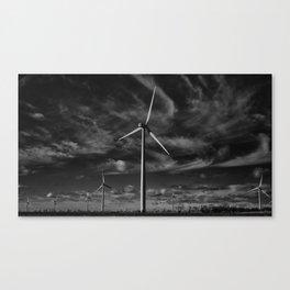 Wind Turbines #moody #blackwhite Canvas Print
