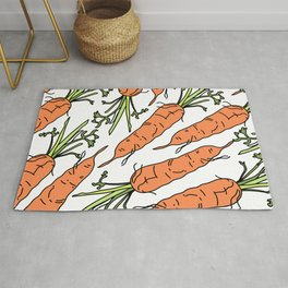 Orange Carrots Rug