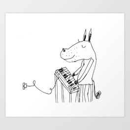 keyboard player Art Print