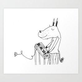 keyboard player Art Print