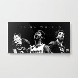 Rising Wolves Art Print. Lavine, Wiggins & Towns. Metal Print