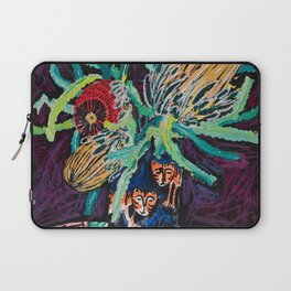 Banksia Bouquet with Tigers Dark Floral Laptop Sleeve