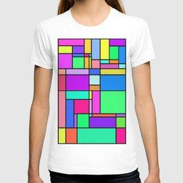 colorful geometric square vectors T-shirt