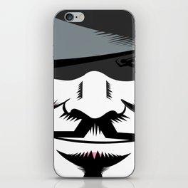 V. f-or Vendetta minimalist Poster iPhone Skin