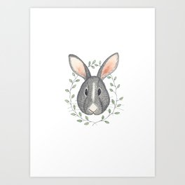 Buns the Grumpy Bunny Art Print