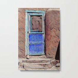 Pueblo Blue Door Metal Print
