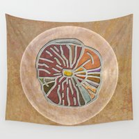 maps Wall Tapestries featuring Tribal Maps - Magical Mazes #03 by Menchulica