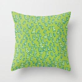 Rockwell Birds - Green Throw Pillow