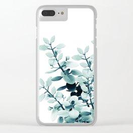 Eucalyptus Leaves Green Vibes #2 #foliage #decor #art #society6 Clear iPhone Case