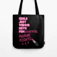 Tote Bags featuring Fundamental by sophiedoodle